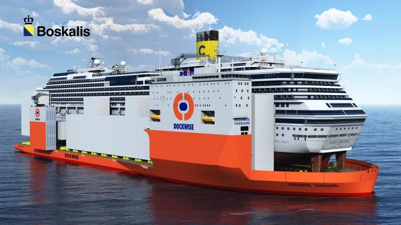 Copyright Boskalis - Dockwise Vanguard and Costa Concordia