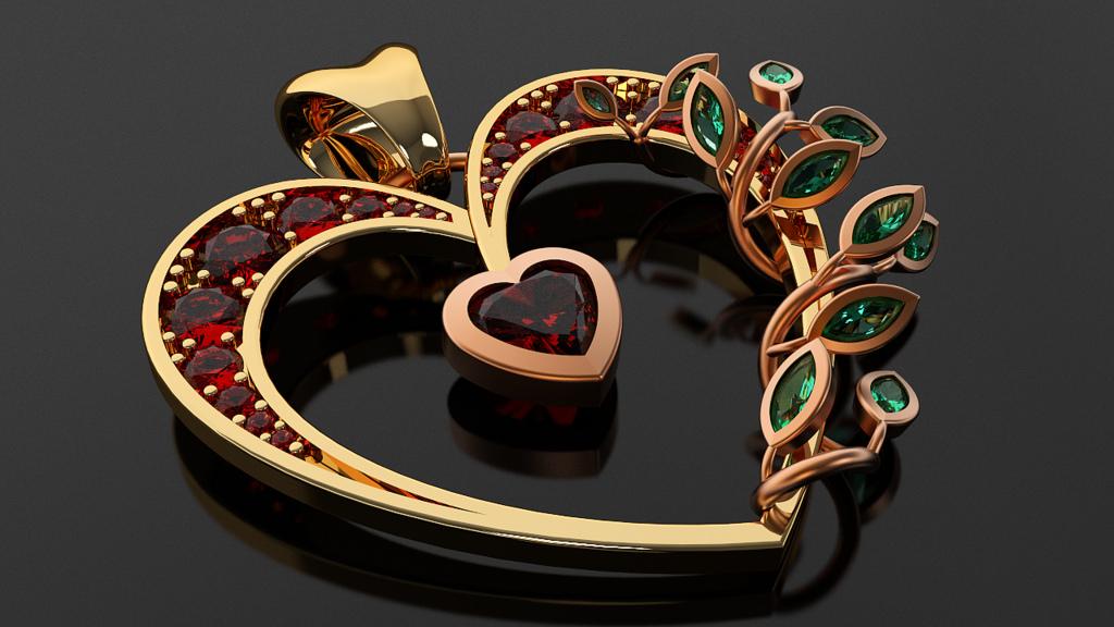 Heart Pendant - Copyright RhinoGold