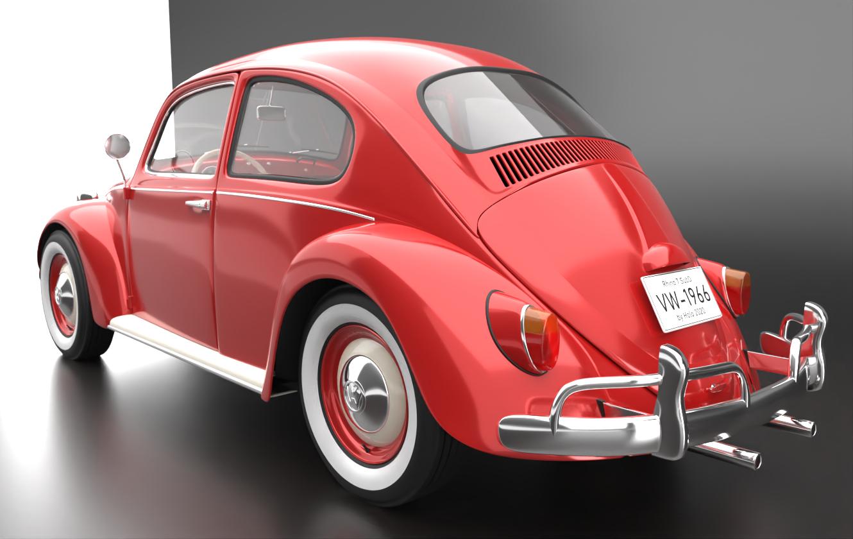 Rhino Render - VW Beetle - Jorgen Holo